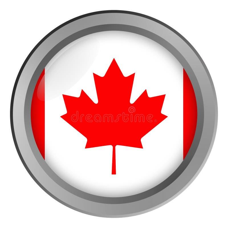 Flaga Kanada round jako guzik ilustracja wektor