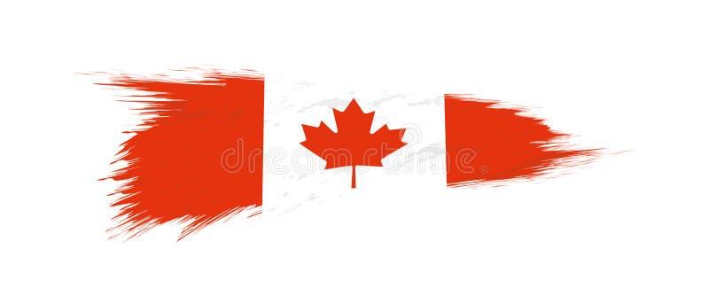 Flaga Kanada w grunge muśnięcia uderzeniu ilustracji