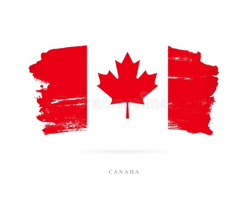 flaga kanady Abstrakcjonistyczny pojęcie ilustracja wektor