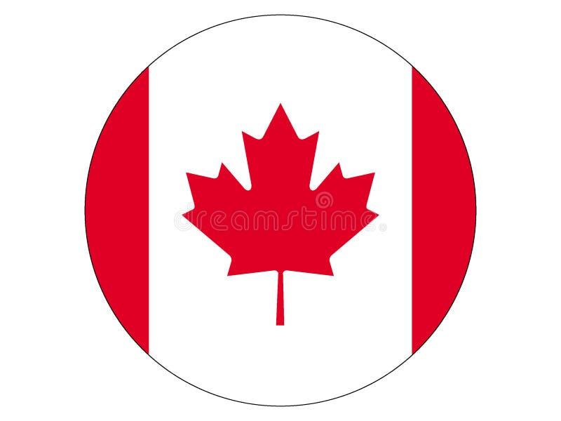 flaga kanady round ilustracja wektor