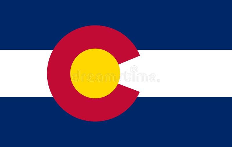 Flaga KOLORADO stan Stany Zjednoczone ilustracja wektor