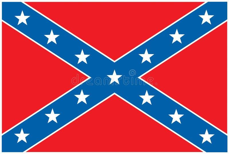 flaga konfederacyjnej buntownik royalty ilustracja