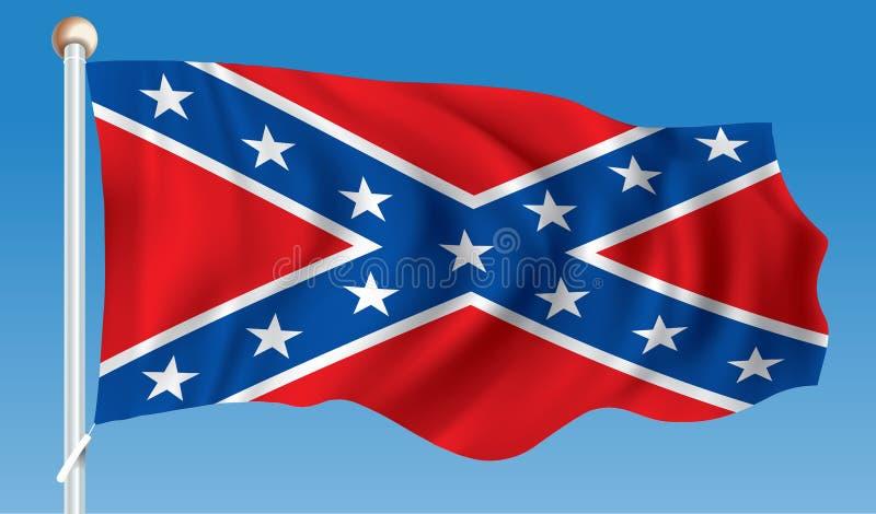 Flaga konfederat royalty ilustracja