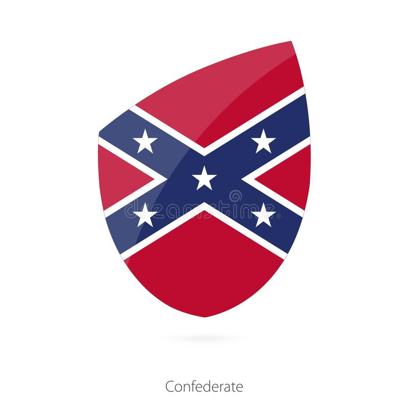 Flaga konfederat ilustracji