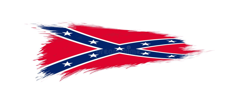 Flaga konfederat w grunge muśnięciu ilustracja wektor