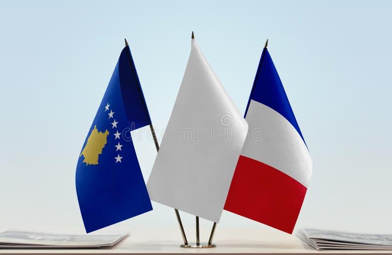 Flaga Kosowo i Francja obrazy stock
