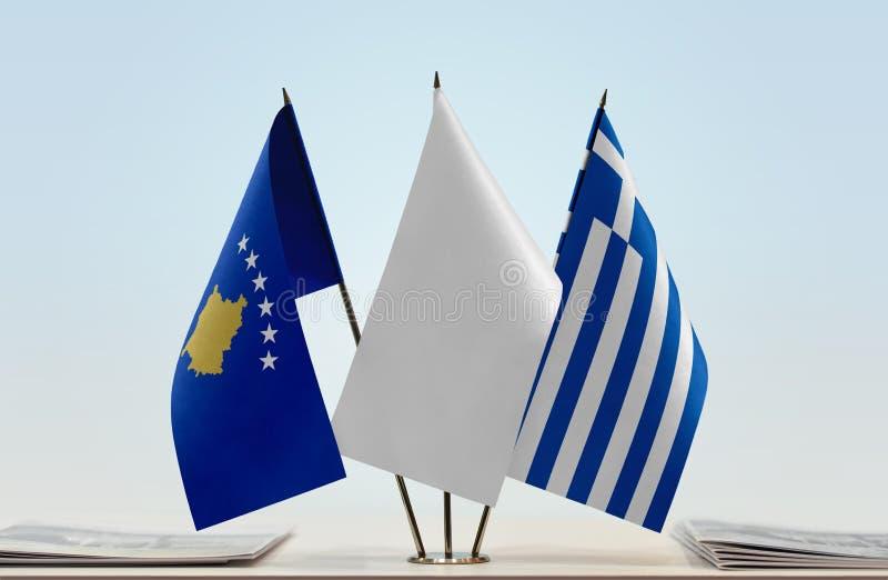Flaga Kosowo i Grecja obraz royalty free