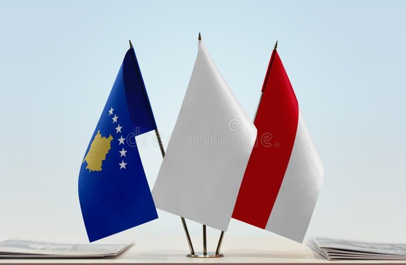 Flaga Kosowo i Monaco obrazy royalty free