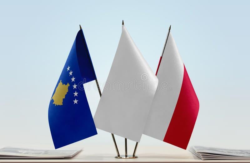 Flaga Kosowo i Polska obrazy royalty free
