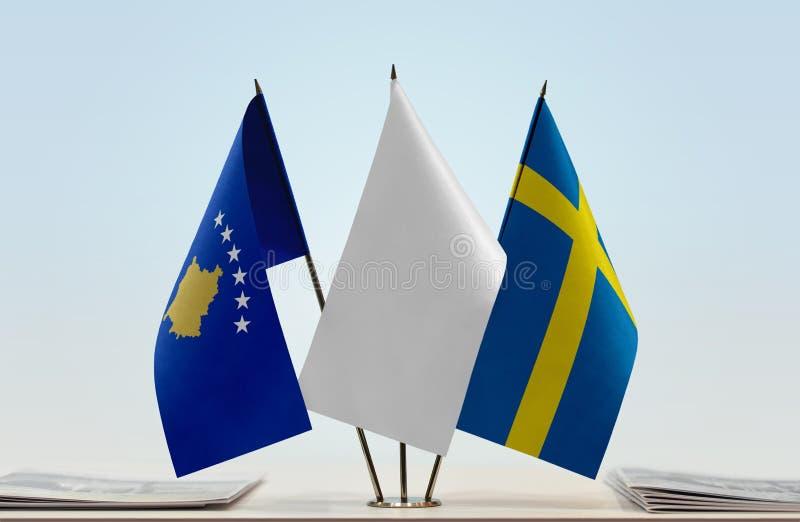 Flaga Kosowo i Szwecja obrazy stock