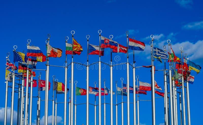 Flaga Kraj europejski zdjęcie stock