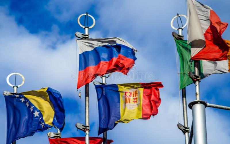 Flaga Kraj europejski zdjęcie royalty free