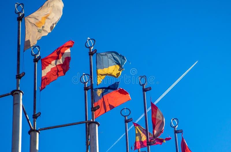 Flaga Kraj europejski fotografia royalty free