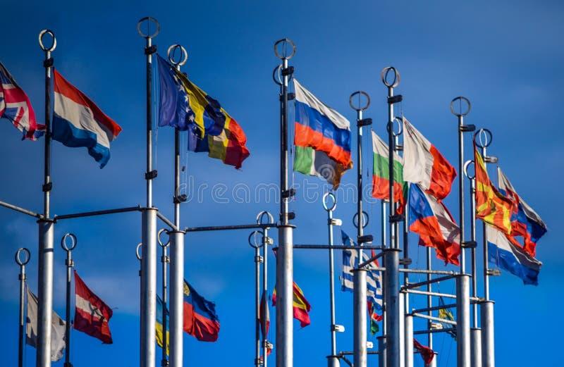 Flaga Kraj europejski zdjęcia royalty free