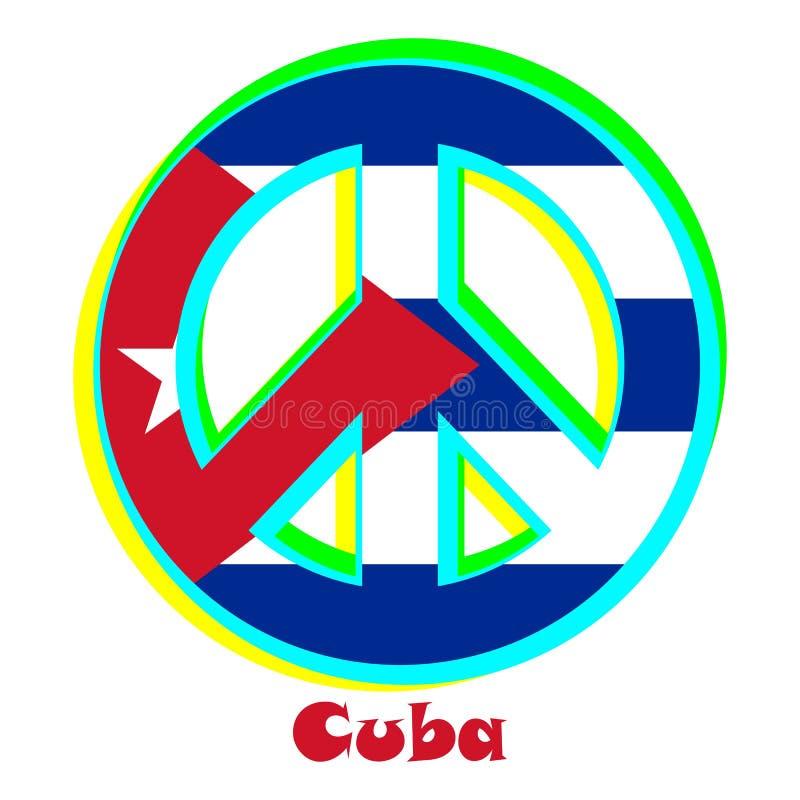 Flaga Kuba jako znak pacyfizm royalty ilustracja
