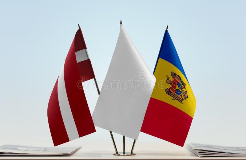 Flaga Latvia i Moldova obrazy royalty free