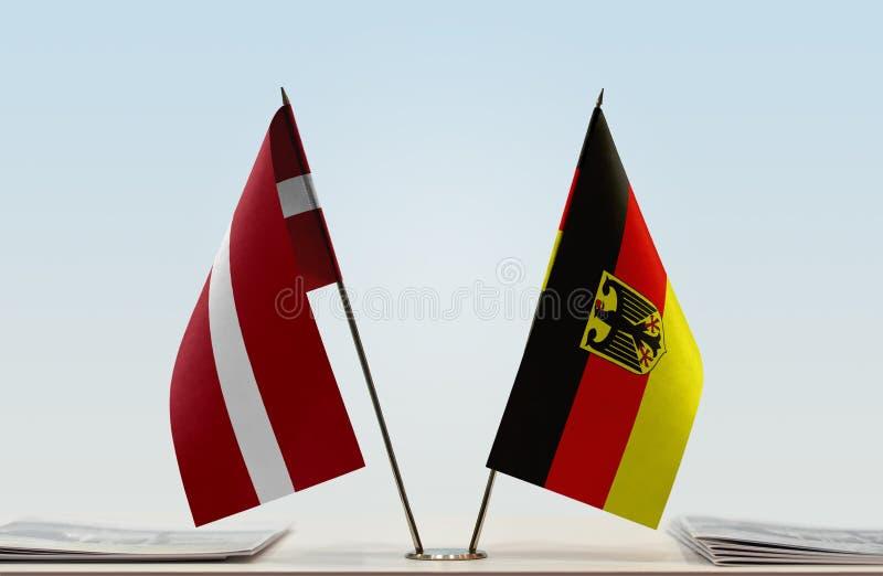 Flaga Latvia i Niemcy fotografia stock