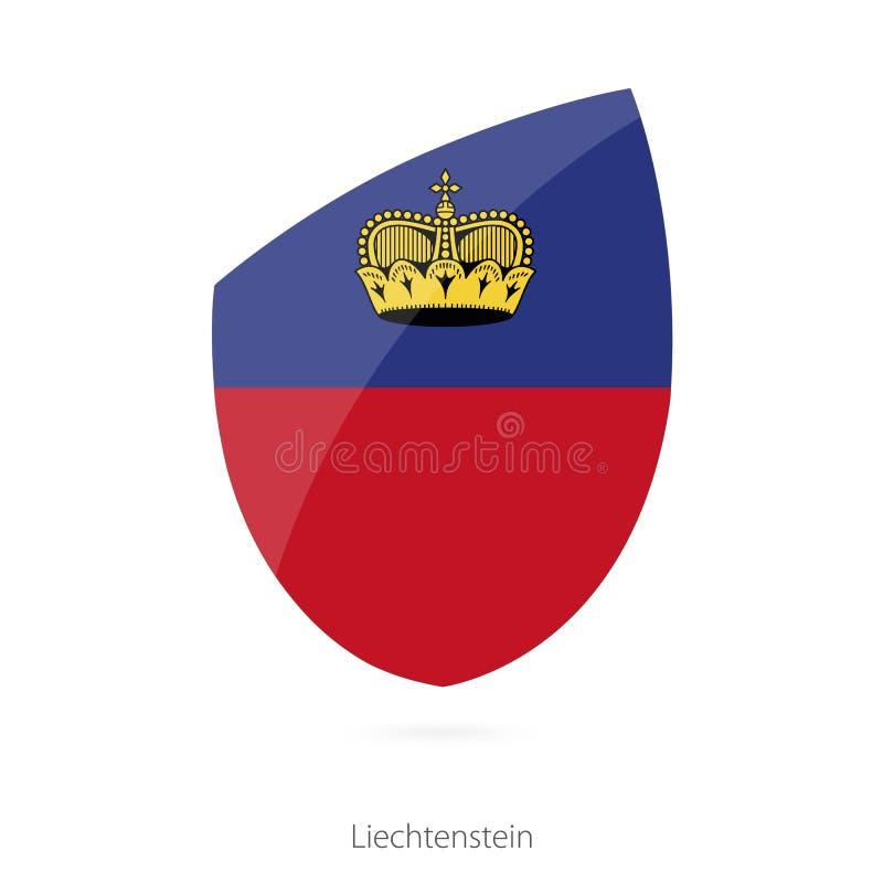 Flaga Liechtenstein w stylu rugby ikony ilustracji