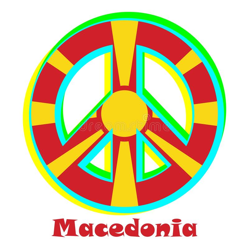 Flaga Macedonia jako znak pacyfizm royalty ilustracja