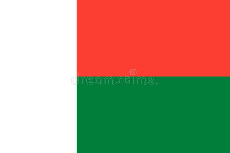 flaga Madagaskaru Wsp??czynniki i kolory obserwuj? royalty ilustracja