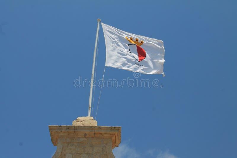 Flaga Mdina w Malta zdjęcia royalty free