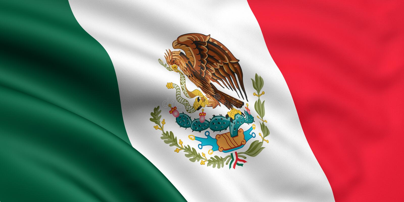 flaga Meksyku ilustracja wektor