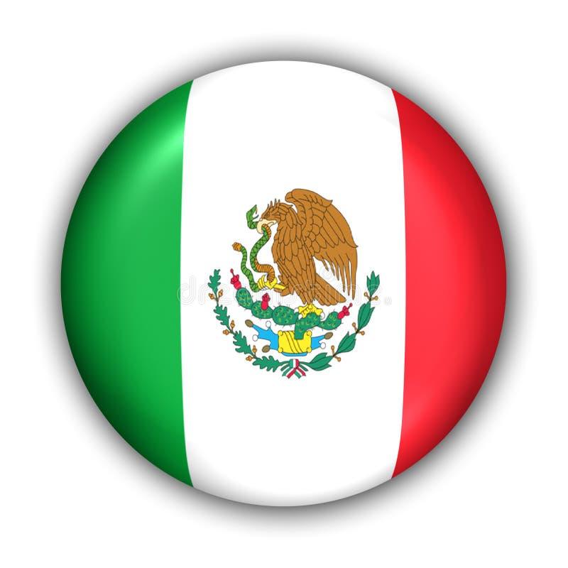 flaga Meksyku royalty ilustracja