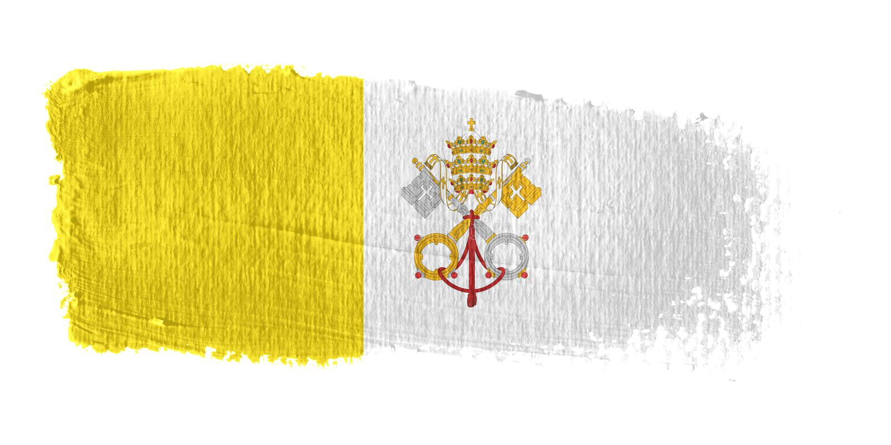 flaga miasta brushstroke Watykanu ilustracji