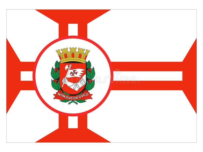 Flaga miasto Sao Paulo royalty ilustracja