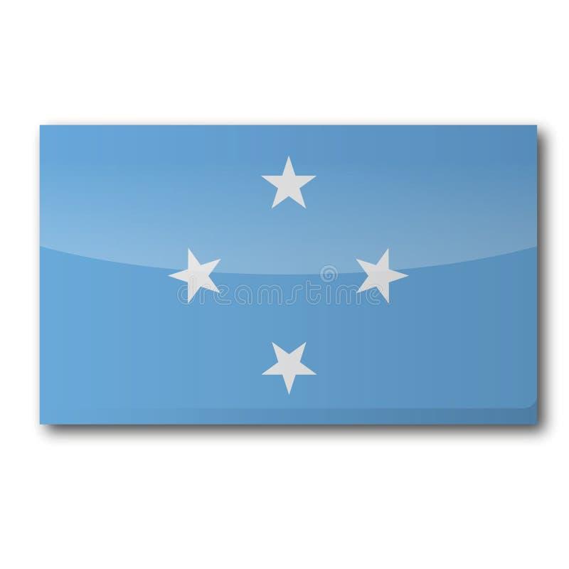 Flaga Micronesia royalty ilustracja