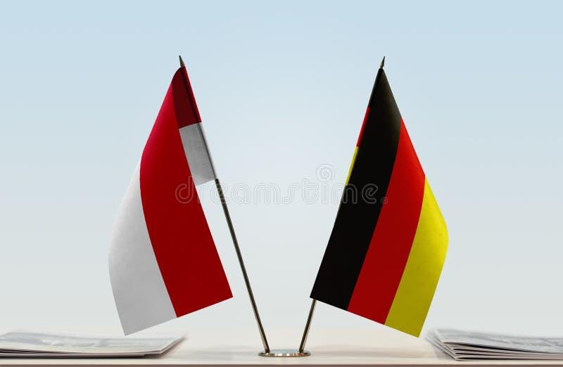 Flaga Monaco i Niemcy zdjęcie stock