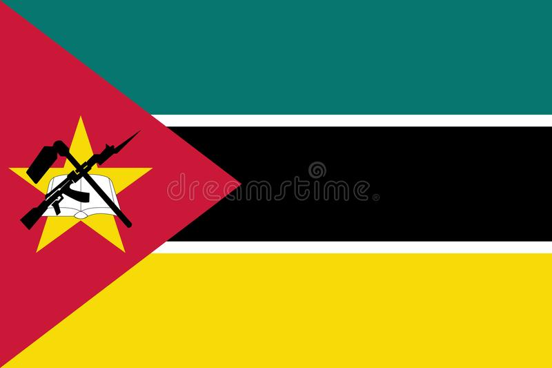 Flaga Mozambik ilustracja wektor