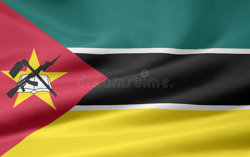 Flaga Mozambique Fotografia Royalty Free