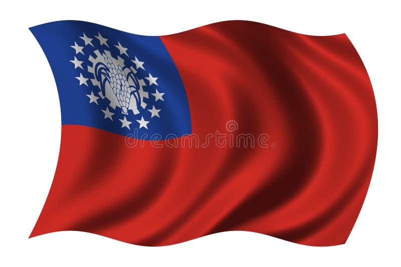 flaga Myanmar ilustracji