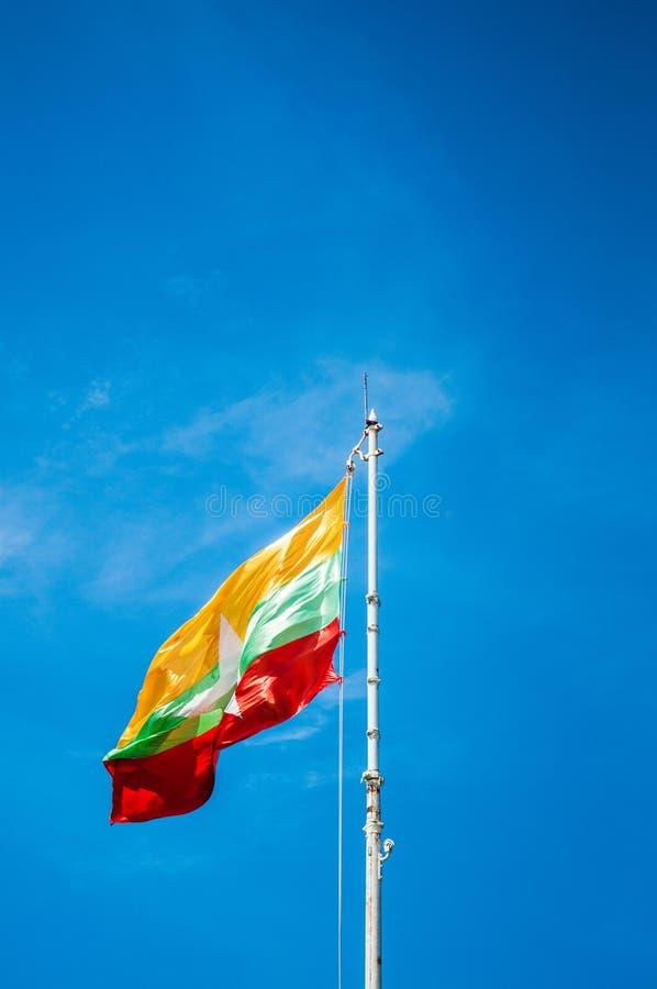 Flaga Myanmar, Nowa Myanmar flaga zdjęcia royalty free