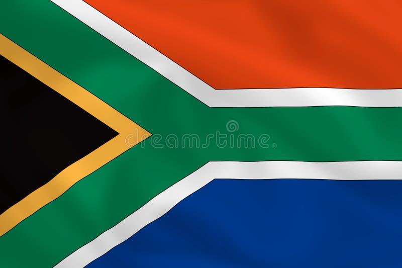 flaga na afryce ilustracja wektor