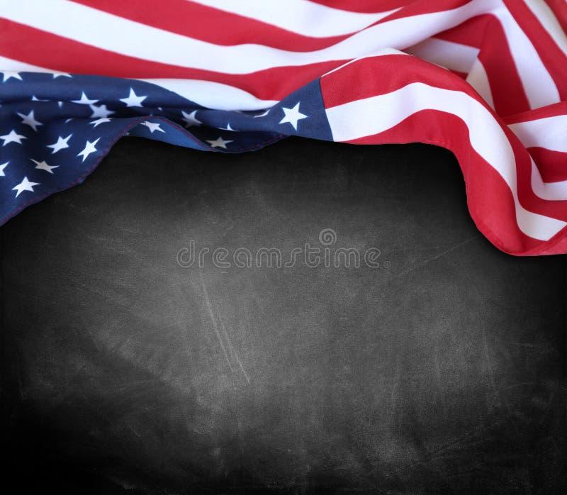 Flaga na blackboard obrazy stock