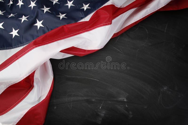 Flaga na blackboard zdjęcia stock