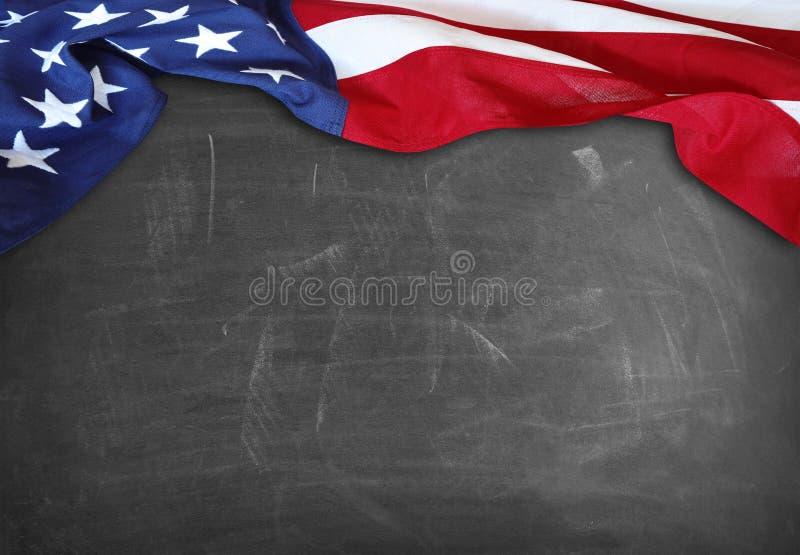 Flaga na blackboard zdjęcie royalty free