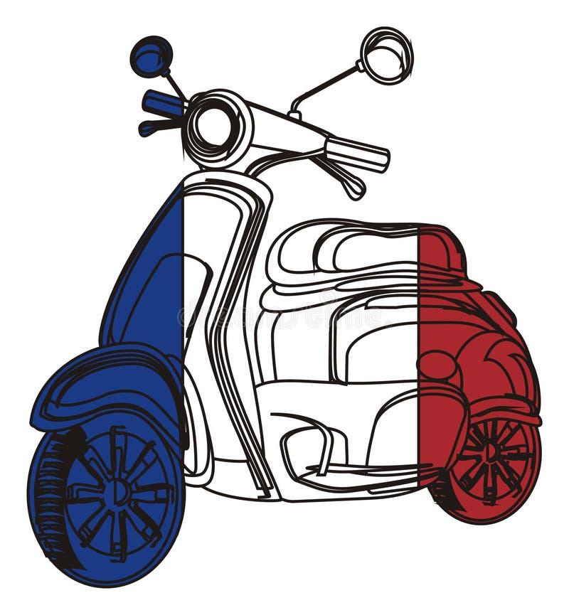 Flaga na moped ilustracja wektor