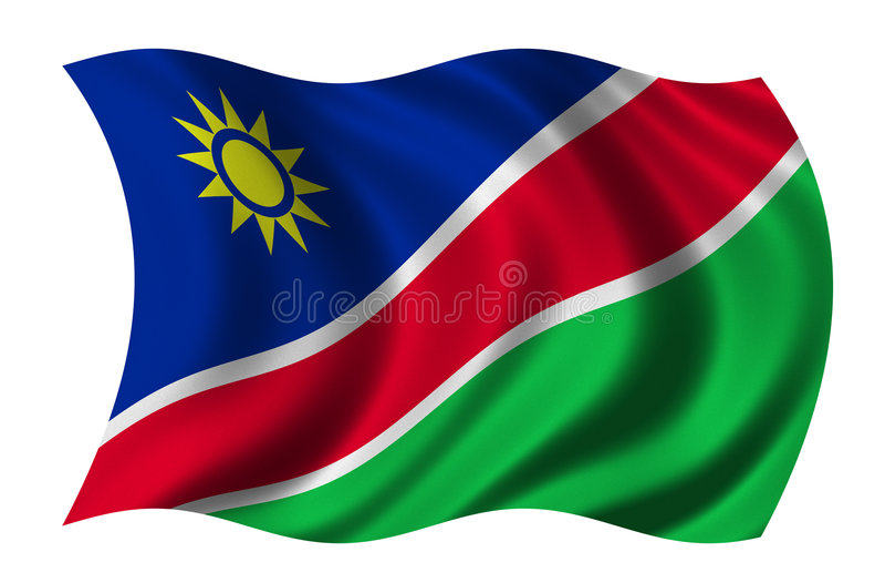 flaga Namibia ilustracji