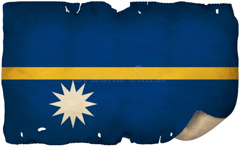 Flaga Nauru Na Starym Papierze fotografia royalty free