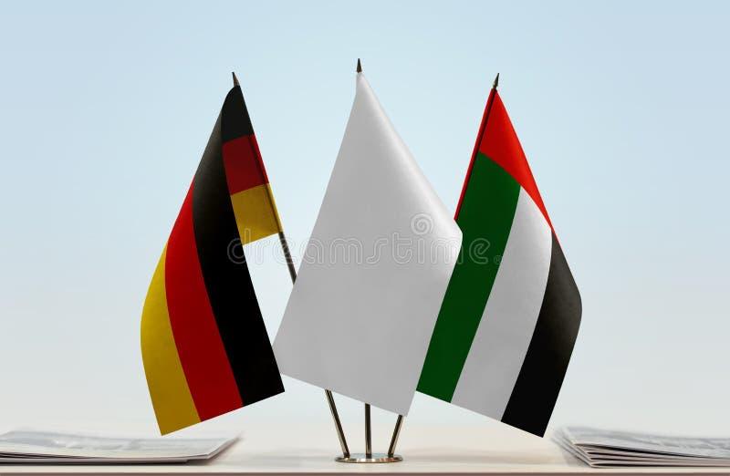 Flaga Niemcy i UAE zdjęcie royalty free