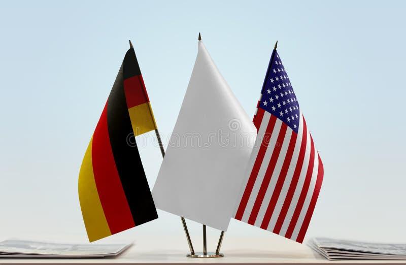 Flaga Niemcy i usa zdjęcie royalty free