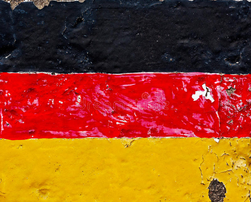Flaga Niemcy na betonowej ścianie fotografia stock
