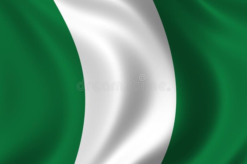flaga Nigeria royalty ilustracja