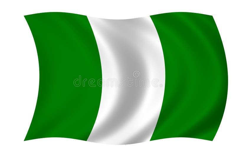 flaga Nigeria ilustracji