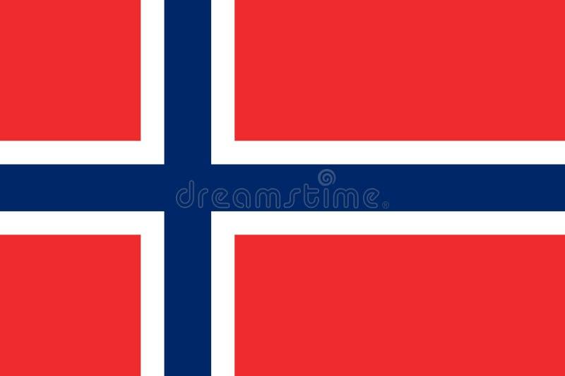 Flaga Norwegia royalty ilustracja