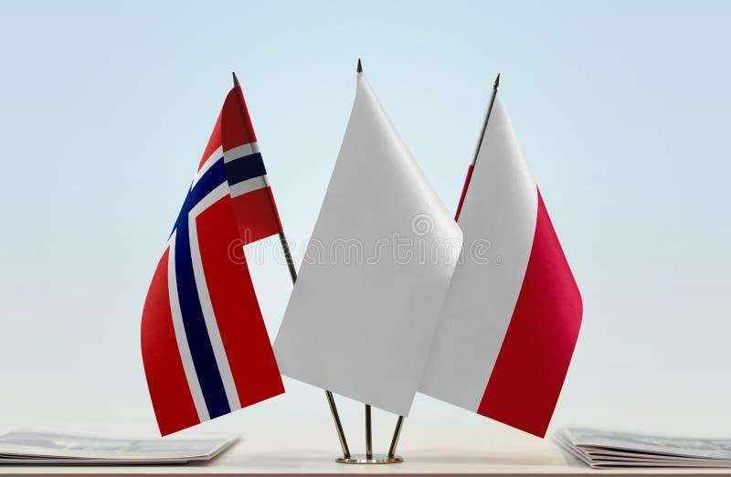 Flaga Norwegia i Polska zdjęcie stock