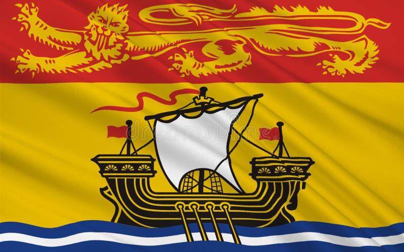 Flaga Nowy Brunswick, Kanada ilustracji